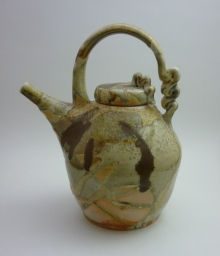 Curly Top Wood Fired teapot